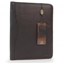 A4 Zipped Leather Portfolio