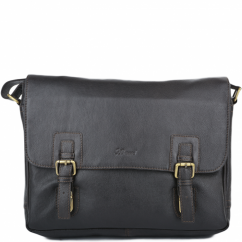 Double Clasp Laptop Satchel with adjustable shoulder strap