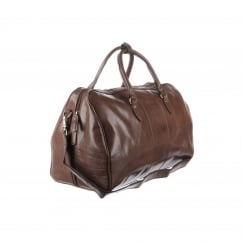 Large Chestnut Traditional Leather Weekend Holdall