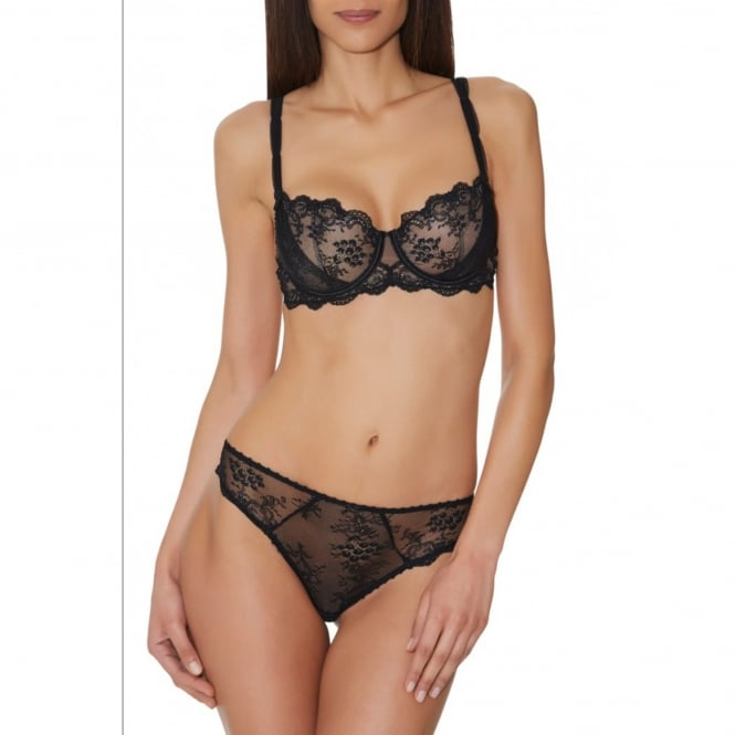 Aubade A L'Amour Black Lace Tanga Brief