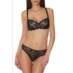 A L'Amour Black Lace Tanga Brief