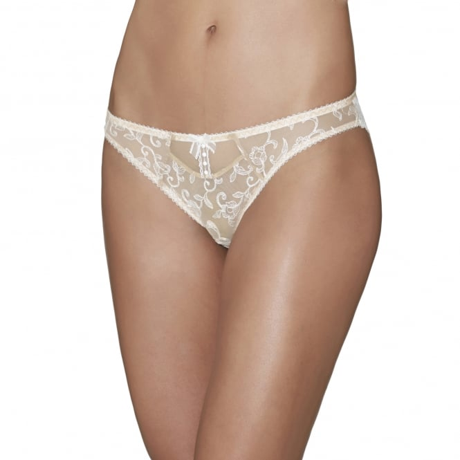 Aubade Bouton d'Eros Mother-of-Pearl Embroidery Mini Coeur Brief