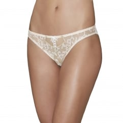 Bouton d'Eros Mother-of-Pearl Embroidery Mini Coeur Brief