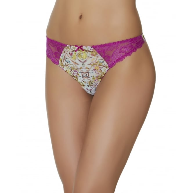 Aubade Idylle Parisienne Hot Pink Tanga Brief by Christian Lacroix