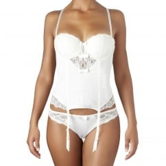 L'Insoumise Embroidered White Tanga Brief