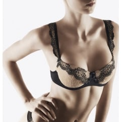 Passion Nocturne Deep Plunge Embroiderd Bra