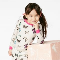 Wings of Desire Stretch Butterflies L/S 2pc Kids' PJ