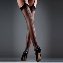 Backseam Leg Lace Top Stockings