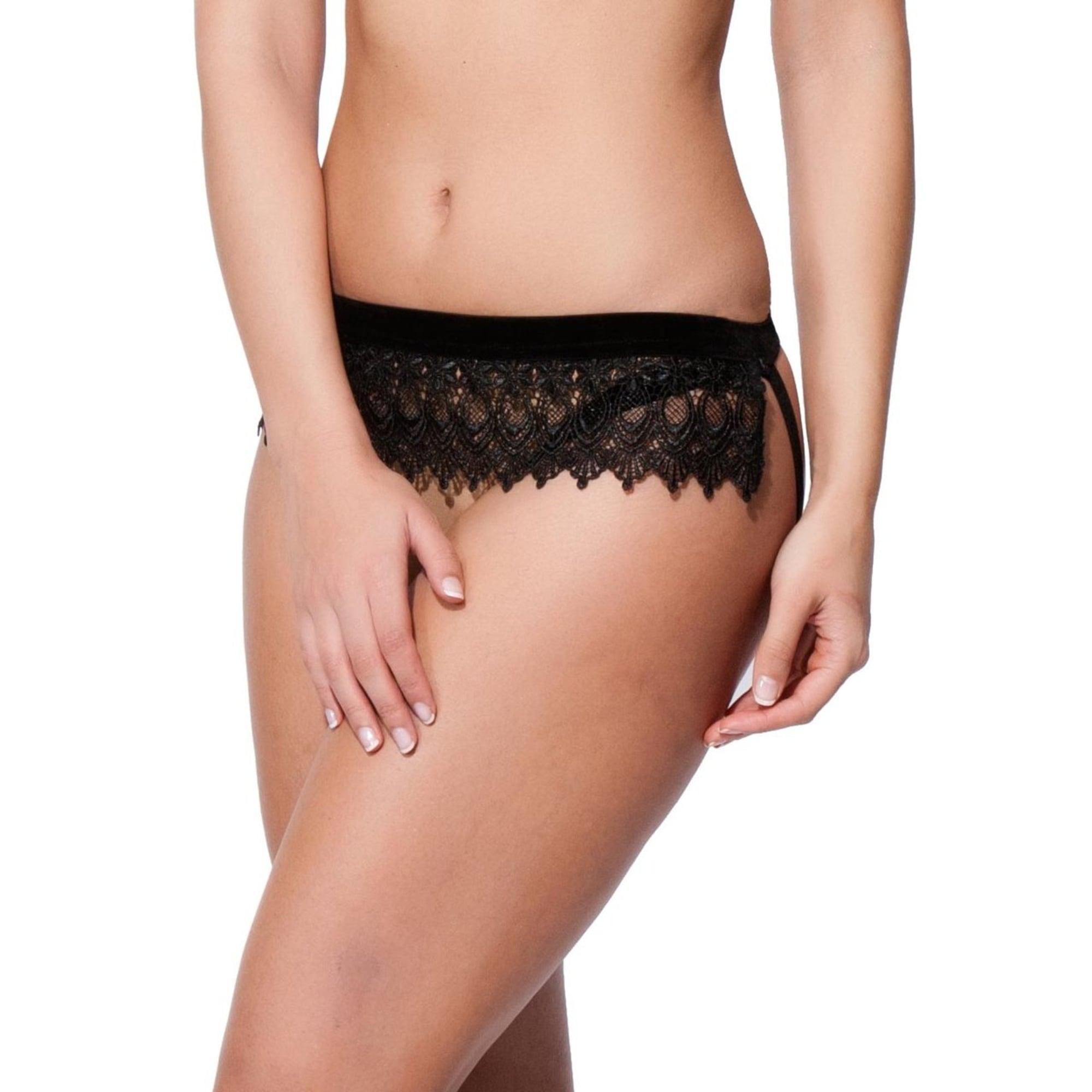 7529f2fdc5 Ines Guipere Lace Trim Ouvert Brief