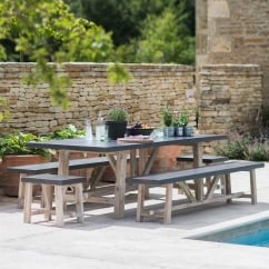 Chilson Large Table and Bench Set - Cement Fibre