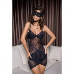 Charlotte Black Fitted Lace Chemise