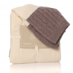 Cream Lambswool Cotswold Blanket