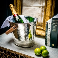 Leather Handled Champagne/Wine Bucket