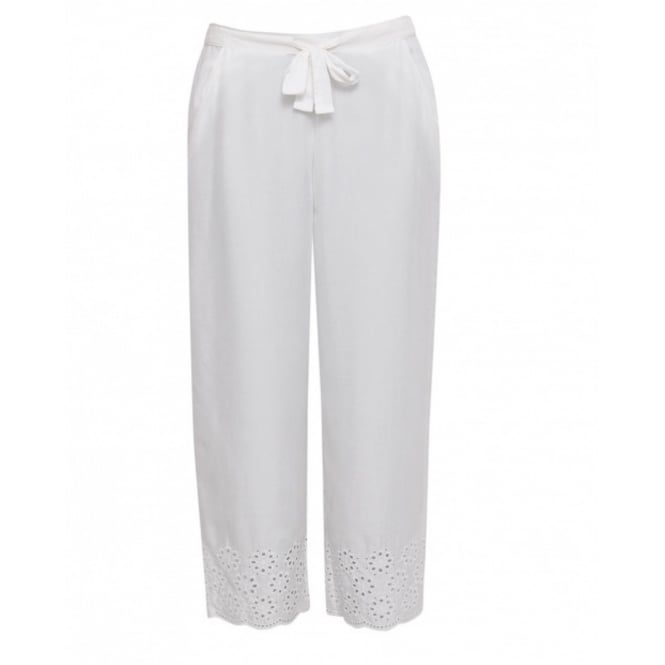 Cyberjammies Embroidered Woven Modal Crop Pyjama Pant