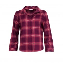 Long Sleeve Lightly Brushed Woven Check Pyjama Top