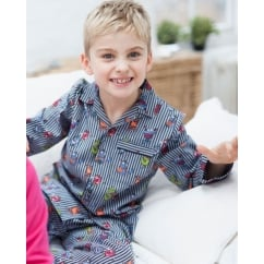 Max Woven Monster Print Long Sleeve Boys Pyjamas