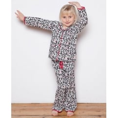 Pandora Woven Panda Print Lightly brushed Long Sleeve Pyjamas