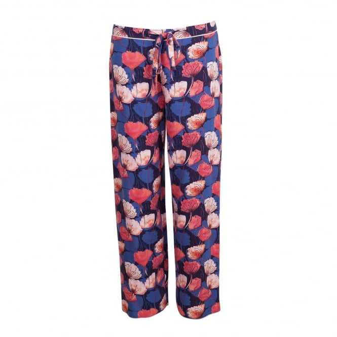 Cyberjammies Winter Flower Blue Floral Woven Pant