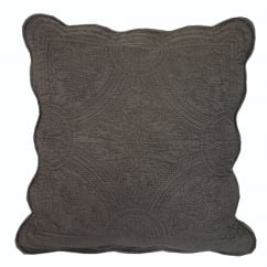 Dove Grey Quilted Pillow Cover