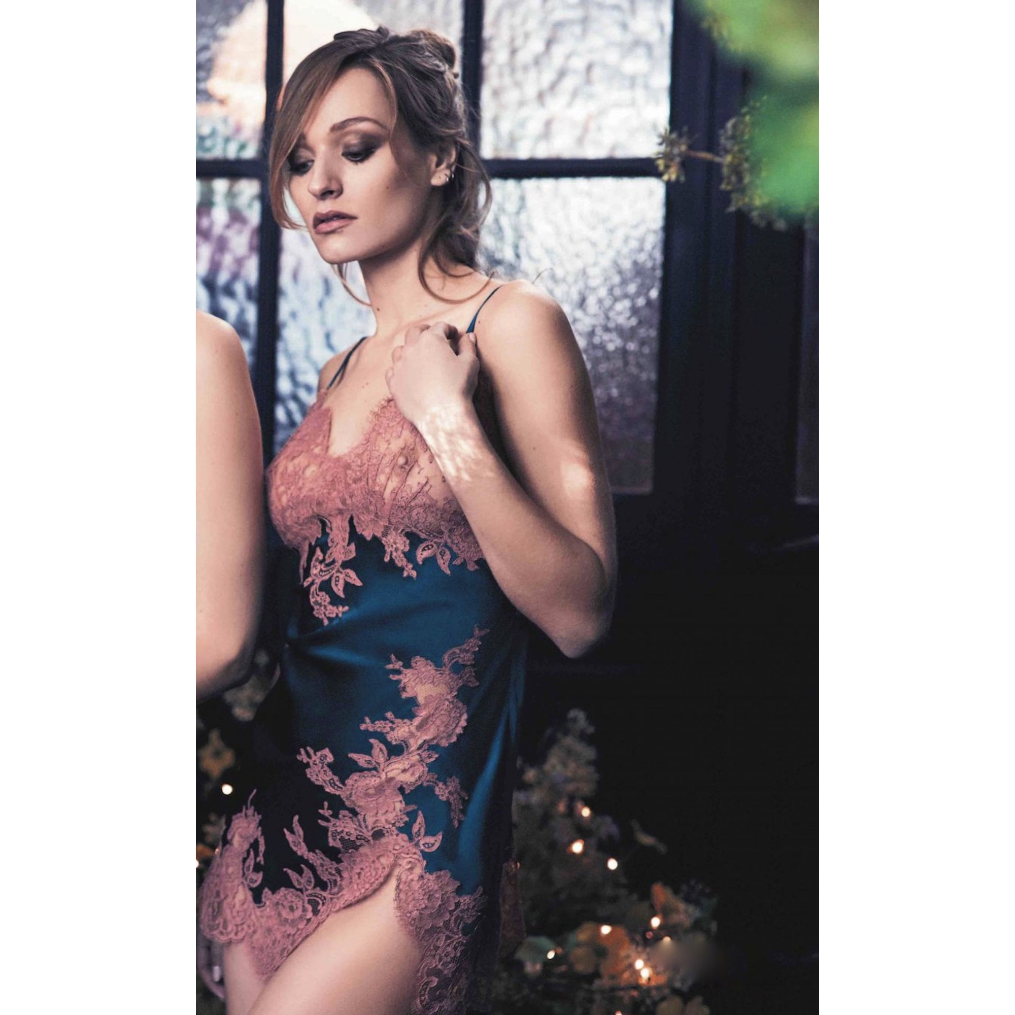91e3aabbb0c71 Egerie Silk   Lace Chemise - For Her... from The Luxe Company UK