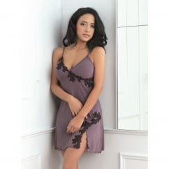 Elegant Chemise with Lace Trim to bust & hem