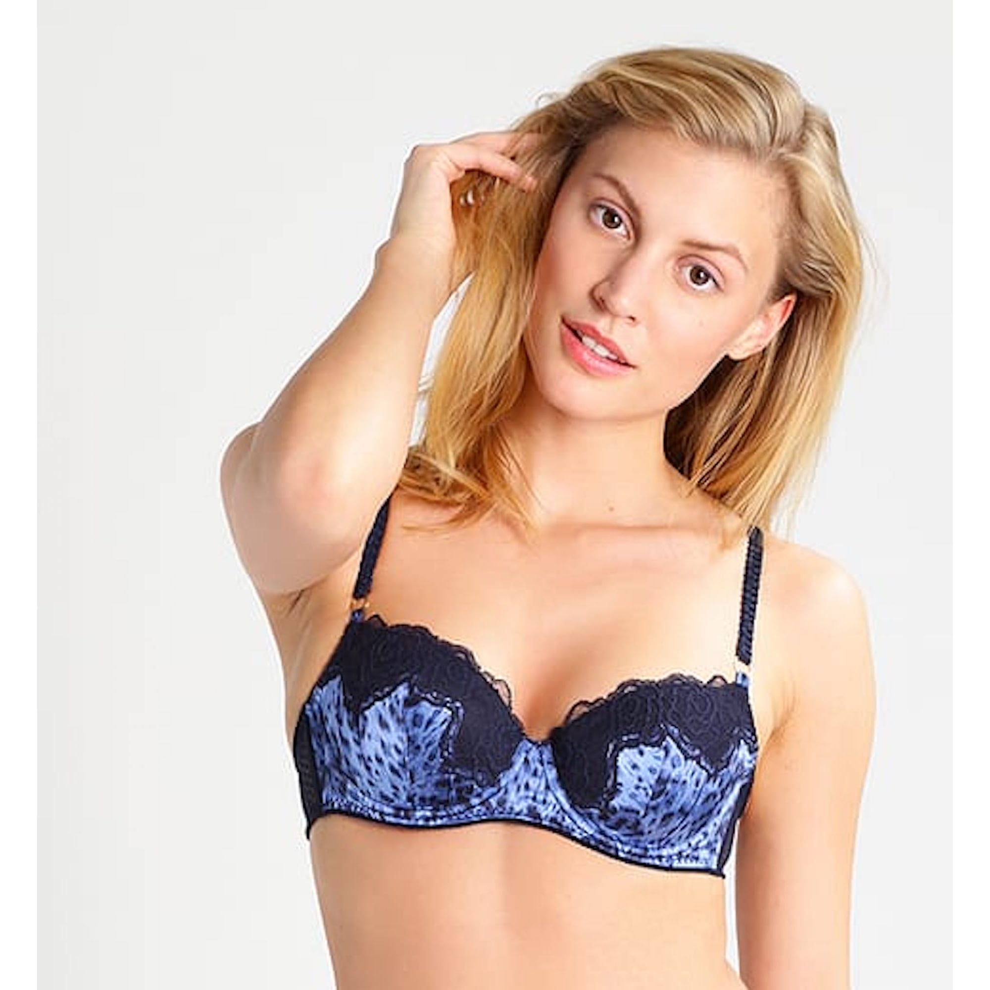 1bbb1098a29 Stella McCartney Lingerie Ellie Leaping Lace and Mesh-Trimmed Leopard-Print  Stretch-Silk Balconette Bra