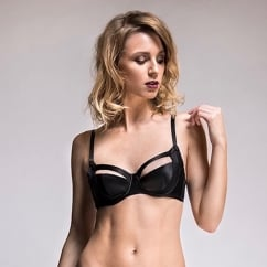 Tamara Silk Black Balcony Bra