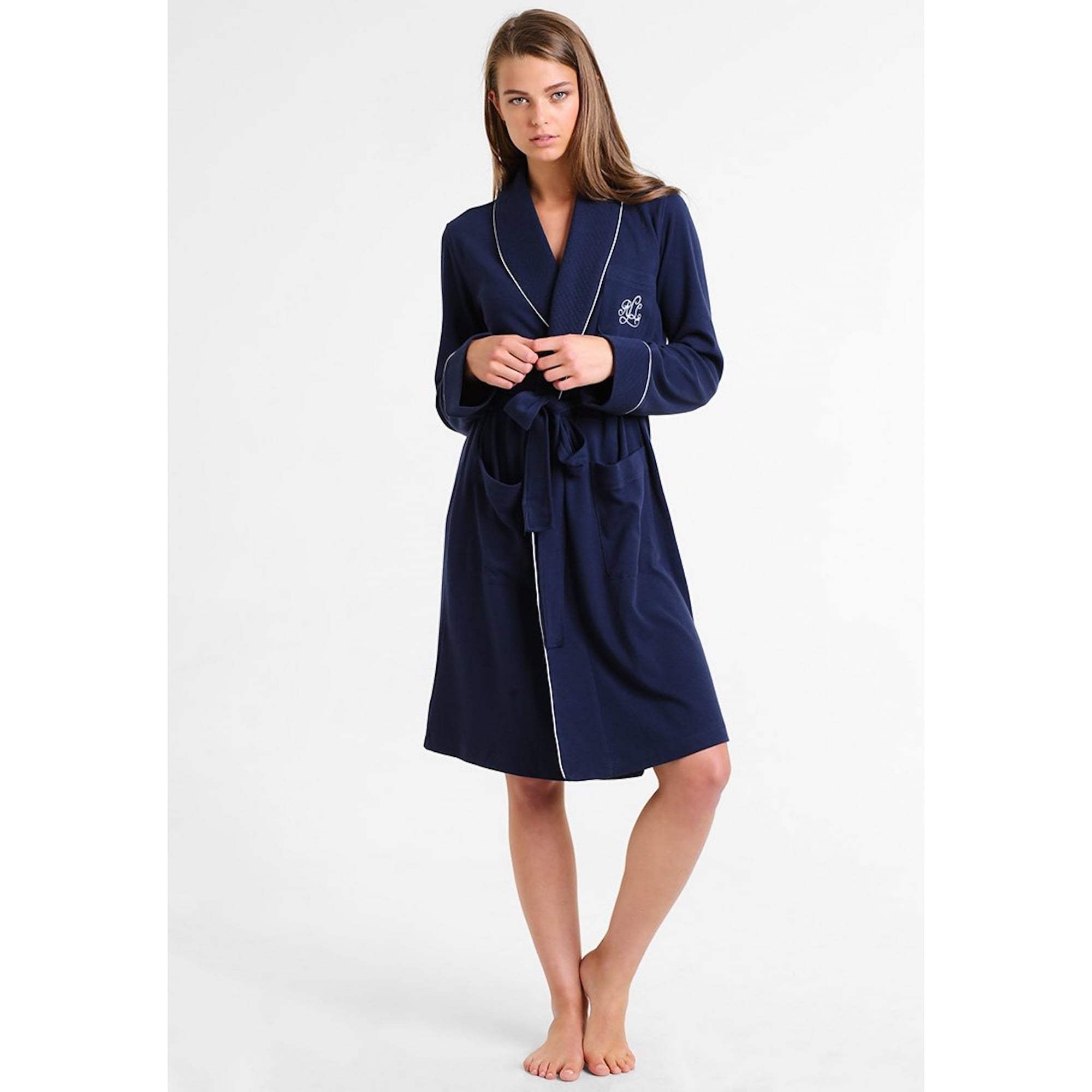 100% high quality huge selection of greatvarieties Essentials 100% Cotton Quilted Collar Robe