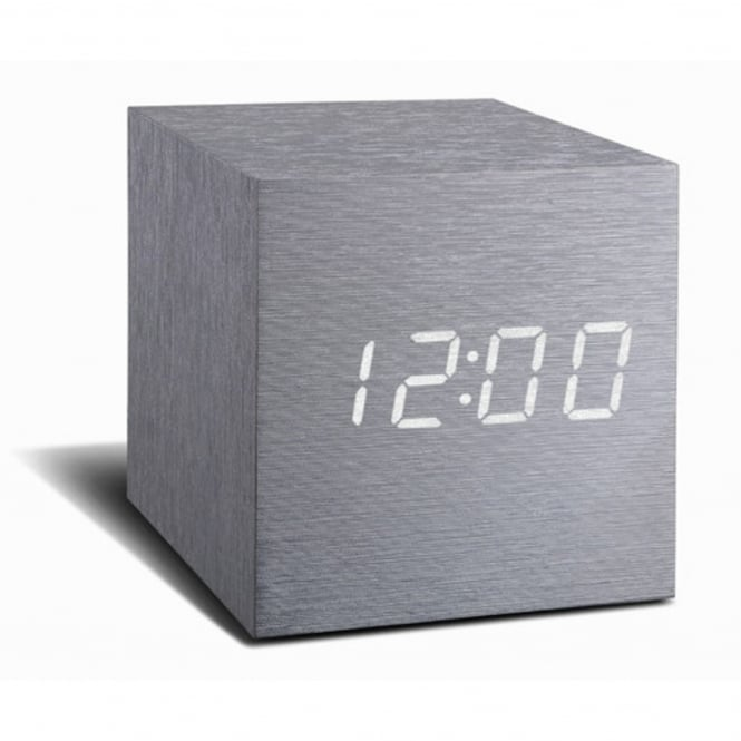 Gingko Cube Click Clock - time at the click of your fingers!