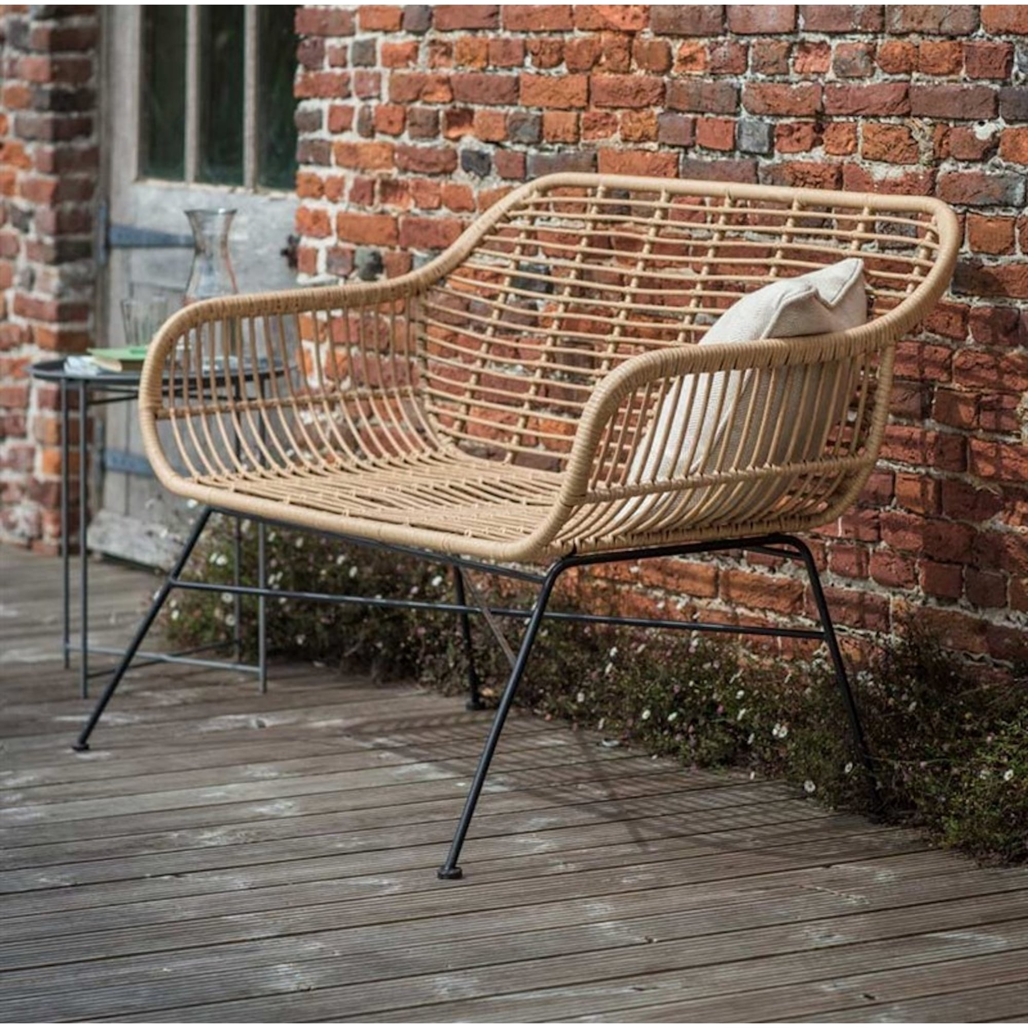 bamboo company furniture. Hampstead All-Weather Bamboo Bench Company Furniture