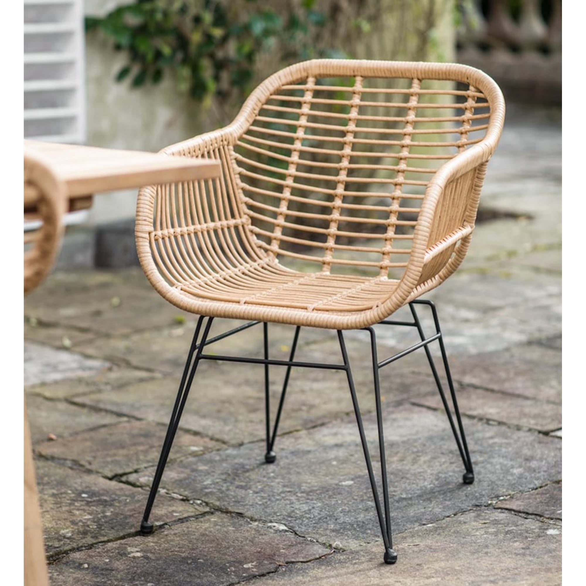 Lx al fresco hampstead all weather bamboo chairs set of 2