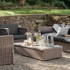 Harting Outdoor Lounge Set - Sofa, 2 Chairs & Table