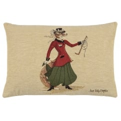 Lady Fenella Fox Oblong Tapestry Cushion