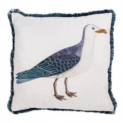 V&A Seagull Cushion with Feather Pad