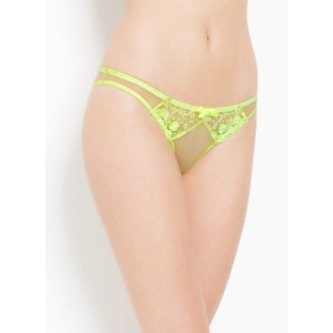 L'Agent by Agent Provocateur Bea Lime Tulle Trixie Thong