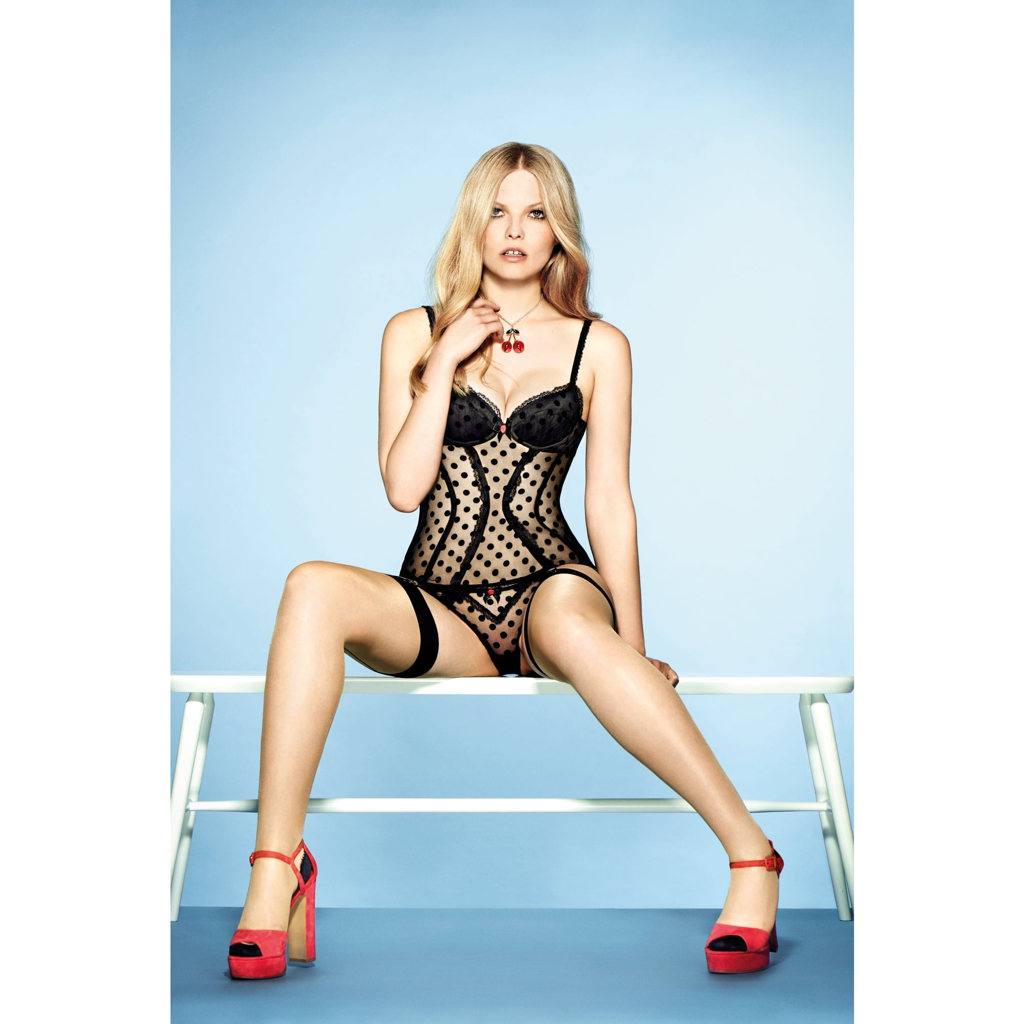 eee32b18170c9 L Agent by Agent Provocateur Rosalyn Mini Brief with sumptuous spot-flocked  sheer black tulle