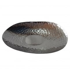 Large Hammered Oval Bowl