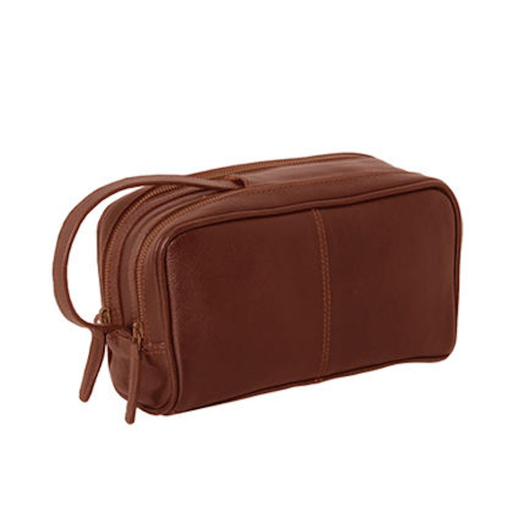 5f98837261 Ashwood Leather Double Zipped Washbag