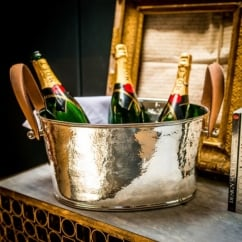 Leather Handled Champagne Bath