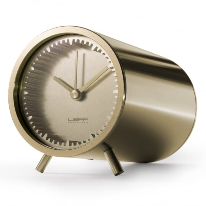 LEFF Amsterdam Tube Clock - Brass
