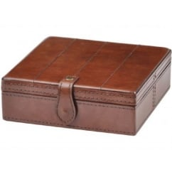 Morton Small Stitched Leather Jewellery Box