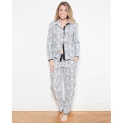 Luna Woven Long Sleeve Animal Print Pyjama Set