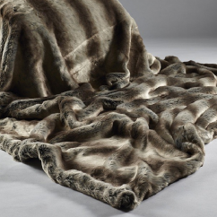 Alaskan Rabbit Faux Fur Throw/Blanket
