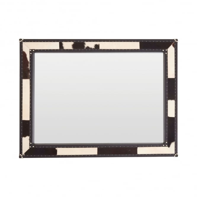 LX Kensington Townhouse Black and White Cowhide Wall Mirror