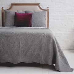Charcoal Large Quilted Bedspread