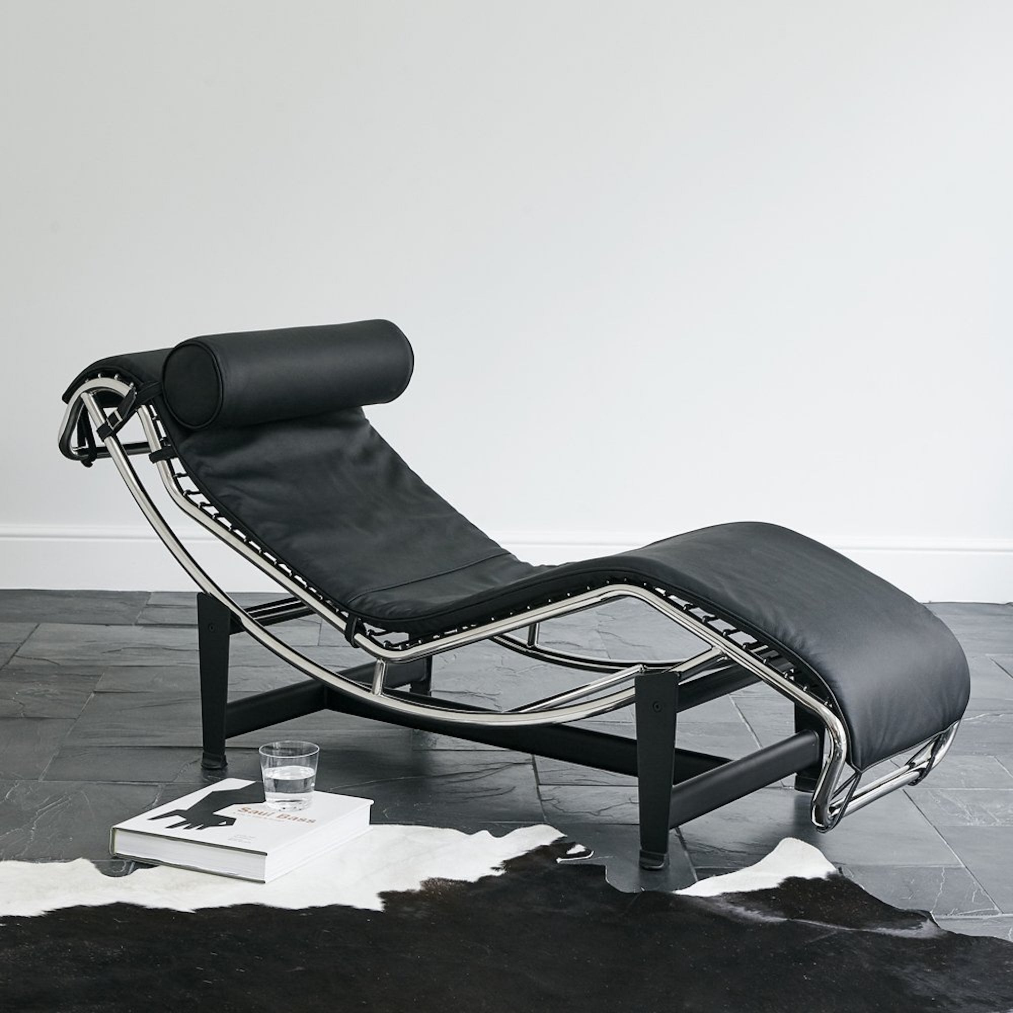 le corbusier lc4 style chaise longue recliner home. Black Bedroom Furniture Sets. Home Design Ideas