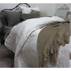 White Large Quilted bedspread