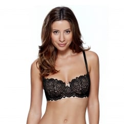 Matilda Padded Balcony Bra in Black & Ivory