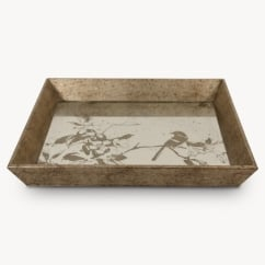 Waltham Decorative Tray With Bird Pattern