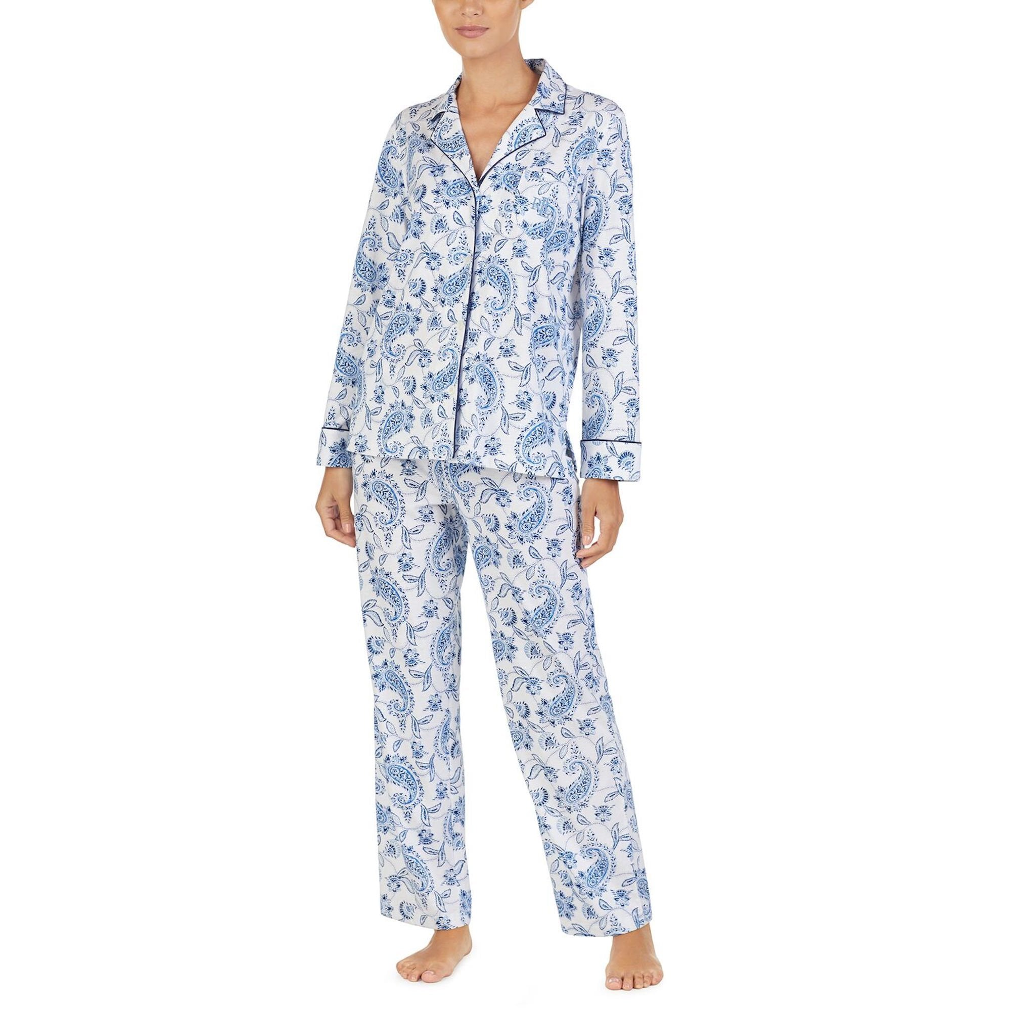 Paisley Soft Cotton Paisley Print PJ Set - For Her... from The Luxe ... 2bdccac7b30a